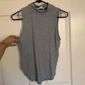Forever 21 turtle neck striped tank